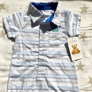 NWT Rene Rofe striped short romper size 3-6 mos